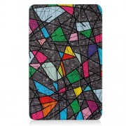 Patterned Smart Leather Case for Samsung Galaxy Tab A 10.1 (2016) T580 T585 - Abstract Pattern