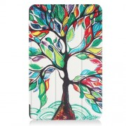 Patterned Smart Leather Shell for Samsung Galaxy Tab A 10.1 (2016) T580 T585 - Flourishing Tree