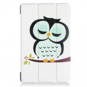 Patterned Smart Leather Cover for Samsung Galaxy Tab A 10.1 (2016) T580 T585 - Dozing Owl