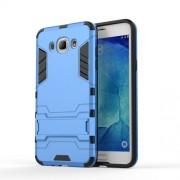 Υβριδική Θήκη Συνδυασμού Σιλικόνης και Πλαστικού με Βάση Στήριξης για Samsung Galaxy J7 (2016) - Μπλε