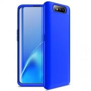 GKK 360 μοιρών Σκληρή Θήκη Ματ με Βελούδινη Υφή Πρόσοψης και Πλάτης για Samsung Galaxy A80/A90 - Μπλε