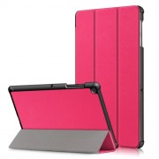 PU Leather Smart Case with Tri-fold Stand for Samsung Galaxy Tab S5e SM-T720/SM-T725 - Rose