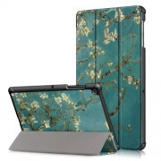 Pattern Printing Tri-fold Stand PU Leather Smart Case for Samsung Galaxy Tab S5e SM-T720/SM-T725 - Wintersweet