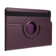 For Samsung Galaxy Tab S5e SM-T720 Litchi Texture Leather Protection Tablet Cover [with 360 Degree Rotary Stand] - Purple