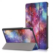 Pattern Printing Tri-fold Stand Leather Tablet Cover for Samsung Galaxy Tab A 10.1 (2019) T515/T510 - Galaxy