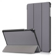 PU Leather Tri-fold Stand Tablet Case Cover for for Samsung Galaxy TAB A 10.1 2019 SM-T510/SM-T515 - Grey