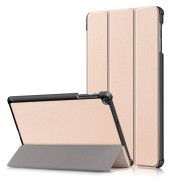 PU Leather Tri-fold Stand Tablet Case Cover for for Samsung Galaxy TAB A 10.1 2019 SM-T510/SM-T515 - Gold