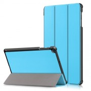 PU Leather Tri-fold Stand Tablet Case Cover for for Samsung Galaxy TAB A 10.1 2019 SM-T510/SM-T515 - Sky Blue