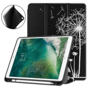 Pattern Printing Leather Tri-fold Stand Smart Tablet Case Accessory for iPad 9.7 (2018) / 9.7 (2017) / Air 2 / Air - Dandelion