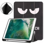 Pattern Printing Leather Tri-fold Stand Smart Tablet Shell Accessory for iPad 9.7 (2018) / 9.7 (2017) / Air 2 / Air - Angry Face