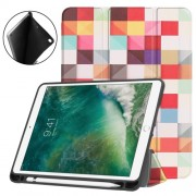 Pattern Printing Leather Tri-fold Stand Smart Tablet Accessory Shell for iPad 9.7 (2018) / 9.7 (2017) / Air 2 / Air - Colorful G