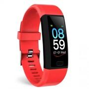 LEMONDA SMART SNY18 Αδιάβροχο Ρολόι Fitness Tracker Bracelet με 1.14 ίντσες Οθόνη - Κόκκινο