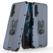 Υβριδική Θήκη Σιλικόνης TPU και Πλαστικού με Μεταλλικό Δαχτυλίδι που Κάνει Βάση Στήριξης για Huawei Honor 20 / Nova 5T - Μπλε