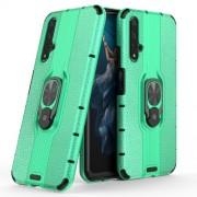 Υβριδική Θήκη Σιλικόνης TPU και Πλαστικού με Μεταλλικό Δαχτυλίδι που Κάνει Βάση Στήριξης για Huawei Honor 20 / Nova 5T - Πράσινο