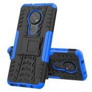 Υβριδική Θήκη Σιλικόνης και Πλαστικού με Βάση Στήριξης για Nokia 7.2 / 6.2 - Μαύρο / Μπλε