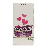 Pattern Printing Magnetic Leather Stand Cover for Xiaomi Redmi Note 9 Pro/Note 9 Pro Max - Sweet Owl Family