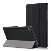 Litch Skin PU Leather Tri-fold Stand Tablet Case for Lenovo Tab M8 TB-8505 - Black