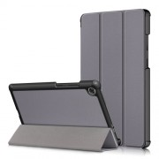 Litch Skin PU Leather Tri-fold Stand Tablet Case for Lenovo Tab M8 TB-8505 - Grey