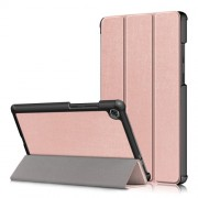 Litch Skin PU Leather Tri-fold Stand Tablet Case for Lenovo Tab M8 TB-8505 - Rose Gold