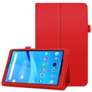 For Lenovo Tab M8/Tab M8 (2nd Gen) Litchi Texture Leather Case Tablet Cover - Red