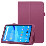 For Lenovo Tab M8/Tab M8 (2nd Gen) Litchi Texture Leather Case Tablet Cover - Purple