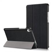 Δερμάτινη Θήκη Βιβλίο Tri-Fold με Βάση Στήριξης για Lenovo Tab M8 HD8505/8705 - Μαύρο