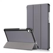 Δερμάτινη Θήκη Βιβλίο Tri-Fold με Βάση Στήριξης για Lenovo Tab M8 HD8505/8705 - Γκρι