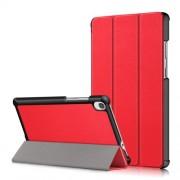 Δερμάτινη Θήκη Βιβλίο Tri-Fold με Βάση Στήριξης για Lenovo Tab M8 HD8505/8705 - Κόκκινο