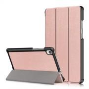 Δερμάτινη Θήκη Βιβλίο Tri-Fold με Βάση Στήριξης για Lenovo Tab M8 HD8505/8705 - Ροζέ Χρυσαφί