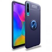 Θήκη Σιλικόνης Ενισχυμένη με Μαγνητικό Δαχτυλίδι που Κάνει Βάση Στήριξης για Huawei P Smart Plus 2019 / Honor 20 Lite - Μπλε