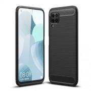 Carbon Fiber Texture Brushed Protective TPU Phone Cover for Huawei P40 lite/nova 7i/nova 6 SE - Black