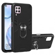 Rotatable Kickstand Detachable 2-in-1 Plastic + TPU Hybrid Back Case for Huawei Nova 6 SE/7i/P40 Lite - Black