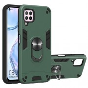 Υβριδική Θήκη Σιλικόνης και Πλαστικού με Μαγνητικό Δαχτυλίδι που Κάνει Βάση Στήριξης για Huawei P40 lite / nova 7i / nova 6 SE - Πράσινο