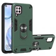 Rotatable Kickstand Detachable 2-in-1 Plastic + TPU Hybrid Back Case for Huawei Nova 6 SE/7i/P40 Lite - Green