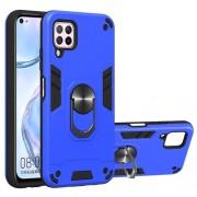 Υβριδική Θήκη Σιλικόνης και Πλαστικού με Μαγνητικό Δαχτυλίδι που Κάνει Βάση Στήριξης για Huawei P40 lite / nova 7i / nova 6 SE - Μπλε