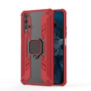Υβριδική Θήκη Σιλικόνης και Πλαστικού με Δαχτυλίδι που Κάνει Βάση Στήριξης για Huawei Honor 20 / nova 5T - Κόκκινο