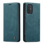 CASEME 013 Series Δερμάτινη Θήκη Πορτοφόλι με Βάση Στήριξης για Samsung Galaxy S20 Plus - Σκούρο Πράσινο