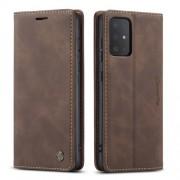 CASEME 013 Series Δερμάτινη Θήκη Πορτοφόλι με Βάση Στήριξης για Samsung Galaxy S20 Plus - Σκούρο Καφέ
