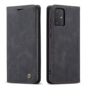 CASEME 013 Series Δερμάτινη Θήκη Πορτοφόλι με Βάση Στήριξης για Samsung Galaxy S20 Ultra - Μαύρο
