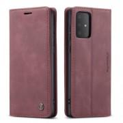 CASEME 013 Series Δερμάτινη Θήκη Πορτοφόλι με Βάση Στήριξης για Samsung Galaxy S20 - Κόκκινο