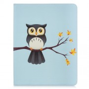 For iPad Pro 12.9-inch (2018) Pattern Printing Leather Tablet Accessory Case - Owl On the Branch