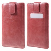 Card Slot Leather Sleeve Cover for iPhone 7 Plus/ 6s Plus/ Samsung Galaxy S7 edge, Size: 16.5 x 9.5cm - Red