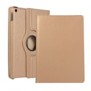Litchi Texture Leather Stand Tablet Case for Apple iPad 10.2 (2019) - Gold