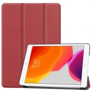 Tri-fold Stand Leather Smart Case for iPad 10.2 (2019) - Wine Red