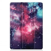 Pattern Printing PU Leather Tri-fold Stand Tablet Case for iPad 10.2 (2019) - Starry Sky