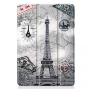 Pattern Printing PU Leather Tri-fold Stand Tablet Case for iPad 10.2 (2019) - Map