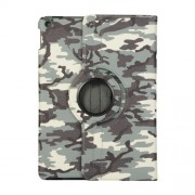 Camouflage Design 360 Swivel Stand Leather Tablet Case for iPad 10.2 (2019) - Army Green