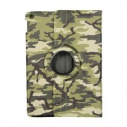 Camouflage Design 360 Swivel Stand Leather Tablet Case for iPad 10.2 (2019) - Light Green