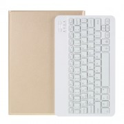 2 in 1 ABS Bluetooth Keyboard Leather Tablet Cover for iPad 10.2 (2019) (A102) [Backlight Version] - Gold