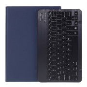 2 in 1 ABS Bluetooth Keyboard Leather Tablet Cover for iPad 10.2 (2019) (A102) [Backlight Version] - Dark Blue